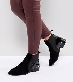 Ботинки челси для широкой стопы River Island - Черный