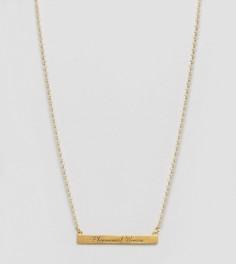 Позолоченное ожерелье с гравировкой Dogeared Maya Angelou Phenomenal Women - Золотой