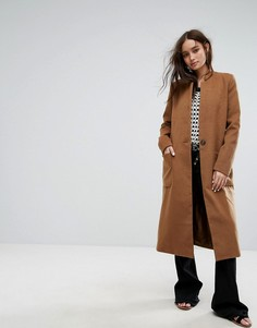 Свободное пальто-бушлат Moon River - Оранжевый