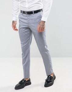 Серо-голубые брюки узкого кроя River Island - Синий