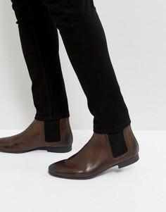 Кожаные коричневые ботинки челси River Island - Коричневый
