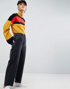 Черные джинсы с широкими штанинами ASOS - Черный