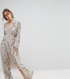 Платье макси с глубоким вырезом Lily and Lionel - Серый