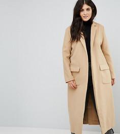 Свободное пальто-кокон Alice & You - Коричневый