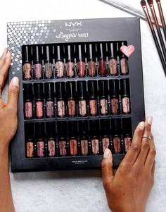 Палитра жидкой губной помады Lingerie Vault от NYX Professional Make Up - 30 оттенков - Мульти