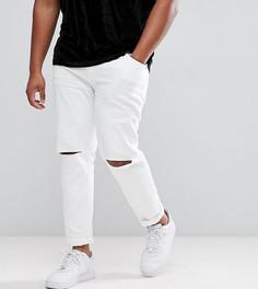 Белые джинсы скинни с рваной отделкой ASOS PLUS - Белый