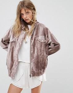 Куртка с бархатной отделкой Free People - Фиолетовый