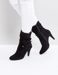Черные ботильоны на каблуке Head Over Heels Rayna - Черный