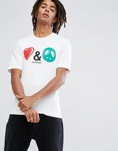 Футболка Love Moschino Peace and Love - Белый