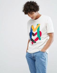 Футболка с логотипом Love Moschino - Белый