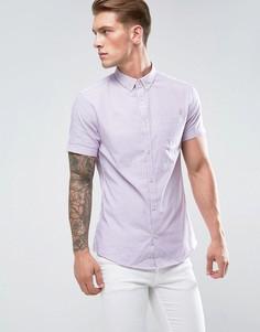 Облегающая рубашка в полоску River Island - Фиолетовый