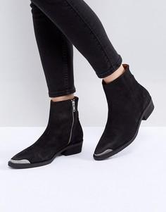 Ботинки на каблуке Selected - Черный