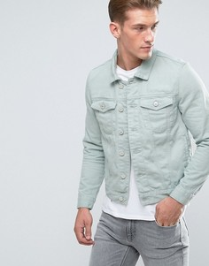 Светло-бирюзовая джинсовая куртка River Island - Зеленый