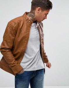 Светло-коричневая байкерская куртка River Island - Рыжий
