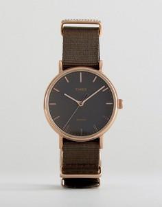 Часы с парусиновым ремешком Timex TW2R48900 - Черный
