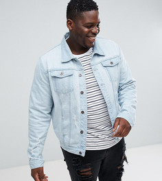 Синяя выбеленная джинсовая куртка Liquor N Poker PLUS - Синий