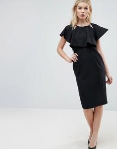 Двухслойное платье миди ASOS - Черный