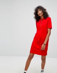 Платье с подвеской-кольцом на молнии Noisy May - Красный