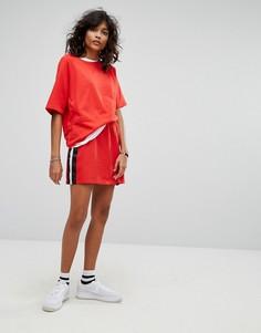 Трикотажная юбка с полосками Noisy May - Красный