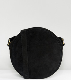 Круглая замшевая сумка через плечо Reclaimed Vintage Inspired - Черный