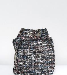 Твидовый мини-рюкзак с люрексом Reclaimed Vintage Inspired - Черный