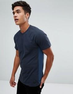 Темно-синяя футболка с круглым вырезом Abercrombie & Fitch - Темно-синий