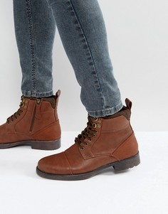 Коричневые ботинки на шнуровке River Island - Коричневый
