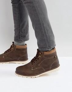 Коричневые ботинки с подкладкой из искусственного меха River Island - Коричневый