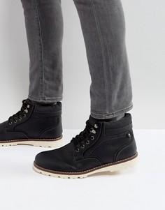 Черные ботинки на подкладке из искусственного меха River Island - Черный