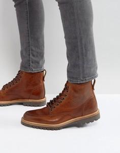 Темно-коричневые ботинки River Island - Рыжий