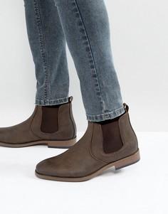Коричневые ботинки челси River Island - Коричневый