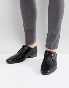 Строгие черные туфли на шнуровке River Island - Черный