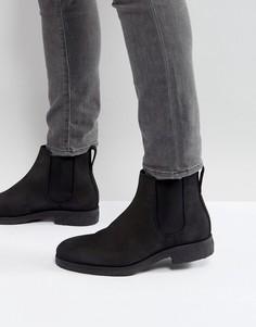 Черные ботинки челси из нубука River Island - Черный