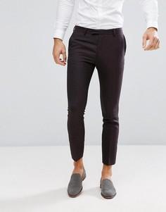 Темно-фиолетовые шерстяные брюки скинни River Island - Красный