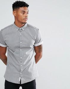 Серая джинсовая рубашка обтягивающего кроя River Island - Серый