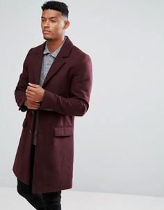 Бордовое пальто River Island - Красный