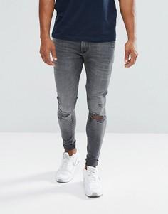 Черные рваные джинсы скинни River Island - Черный