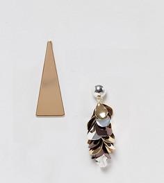 Серьги в виде пирамид с кисточками Monki - Мульти
