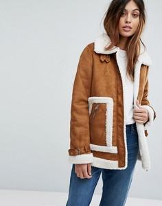 Куртка с искусственным мехом Vero Moda - Красный