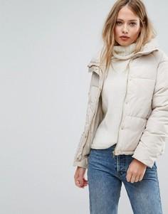 Дутая куртка с высоким воротником Vero Moda - Бежевый