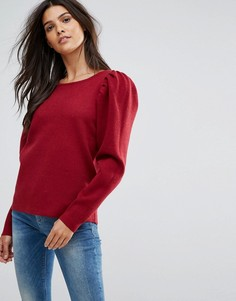 Свободный свитшот с пышными рукавами Vero Moda - Красный