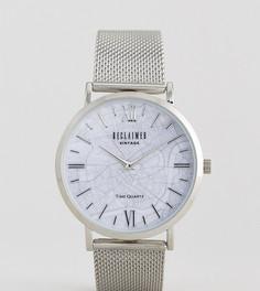 Серебристые часы с сетчатым ремешком Reclaimed Vintage Inspired London Map эксклюзивно для ASOS - Серебряный