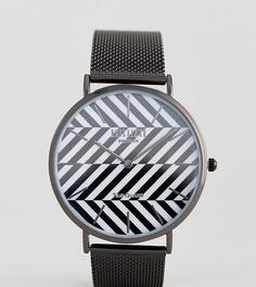 Черные часы с сетчатым ремешком Reclaimed Vintage Inspired эксклюзивно для ASOS - Черный