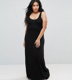 Длинное платье-майка ASOS CURVE - Черный