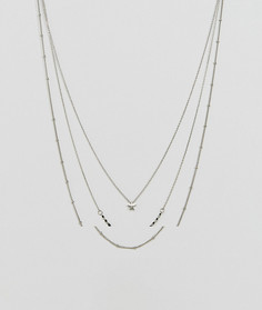 Трехъярусное ожерелье Pieces - Серебряный
