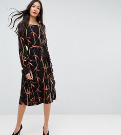 Платье миди с принтом Y.A.S Tall - Мульти