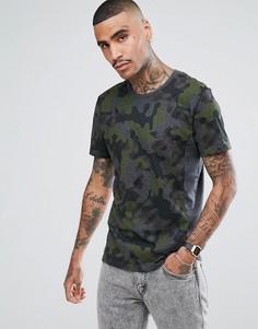 Серая камуфляжная футболка Aquascutum Lancelot - Серый