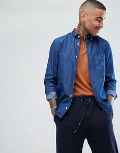 Синяя рубашка из шамбре с логотипом Aquascutum Redmond - Синий