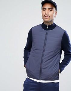 Темно-синяя куртка из плотного трикотажа Aquascutum Wise - Темно-синий