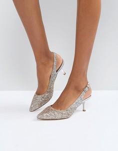 Туфли с каблуком-рюмочкой Coast - Серебряный